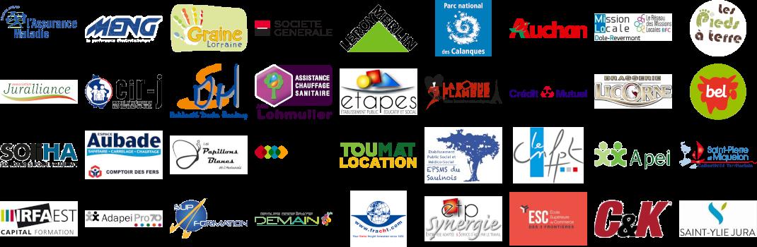 Logos des clients de Formacoop